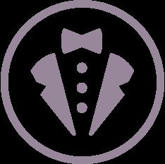henrys tux logo button