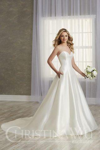 woman in Christina wu wedding dress