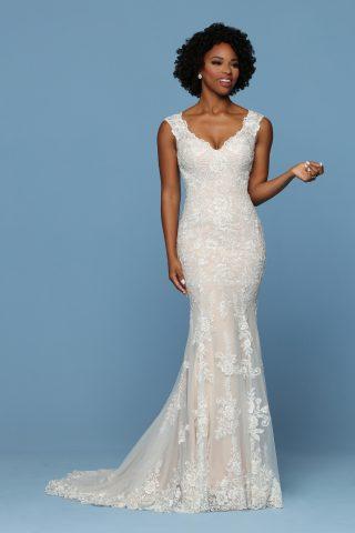 woman in davinci bride dress