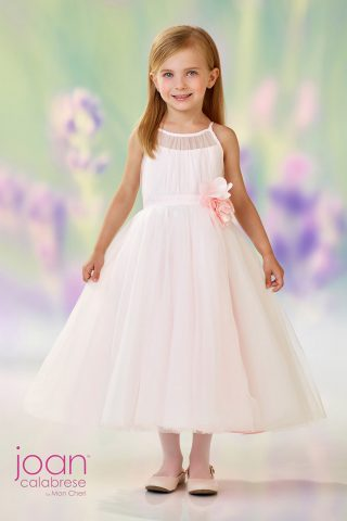 girl in joan calabrese for mon cheri flower girl dress