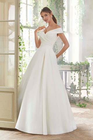 woman in morilee bridal gown