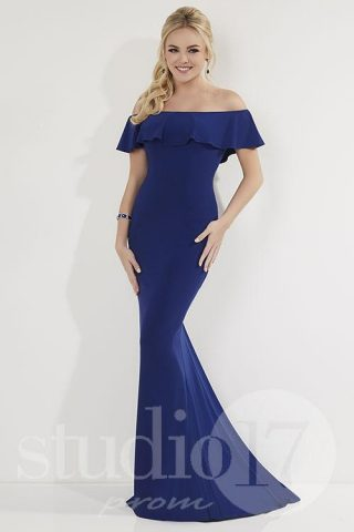 woman in a blue dress from studio 17 prom