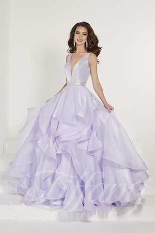 photo of a woman in a prom dress from tiffany designs